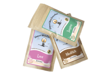 Peace Trio Bath Set: inspire pouch, meditate pouch, and love pouch