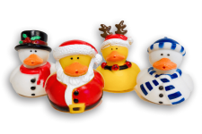 Set of 4 holiday rubber ducks