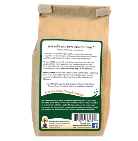 Cold and Flu Bath Remedy 24 ounce bag back