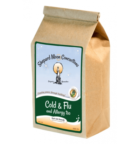 Cold and Flu Bath Remedy 24 ounce bag tilted left