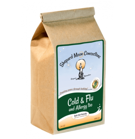 Cold and Flu Bath Remedy 24 ounce bag tilted right