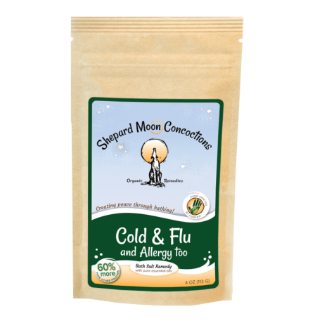 Cold and Flu Bath Remedy 4 ounce pouch front