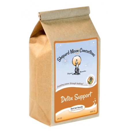Detox Support Bath Remedy 24 ounce bag tilted right